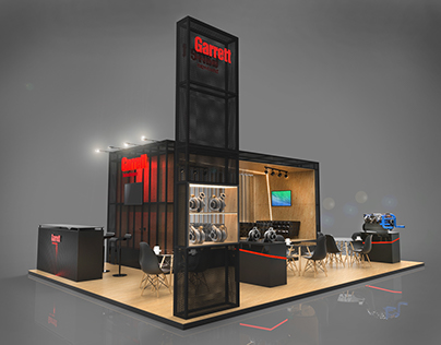 Garrett exhibition booth