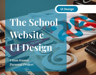 The School - Website UI Design