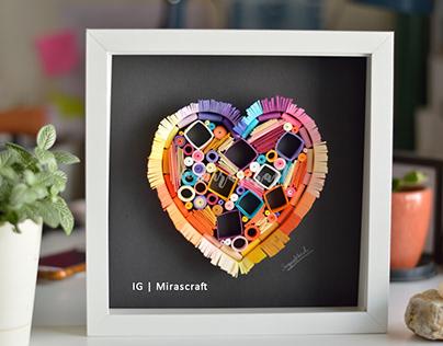 Abstract paper heart artwork | Paper Art