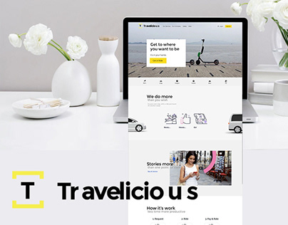 Travelicious | Transportation website concept