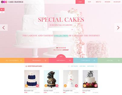 E-commerce platform for custom cakes