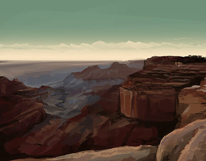 A couple of quick sketches of landscapes.