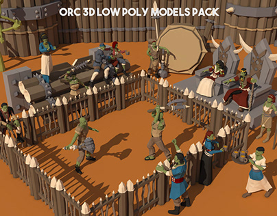 Orc 3D Low Poly Models