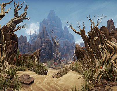 PBR Desert environment