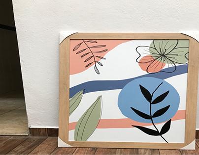 quadros botânicos