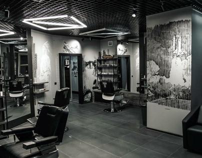 artwork for barbershop black moustache