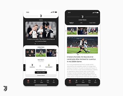 Juventus FC Application - Redesign Concept