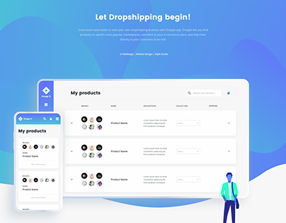 Droppit – SaaS dropshipping web app design