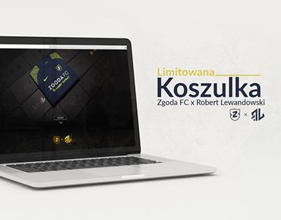 ZGODA FC x Robert Lewandowski. Landing Page.