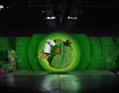 Animation for mapped projection: John Deere