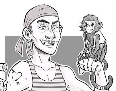 Random Characters Sketches
