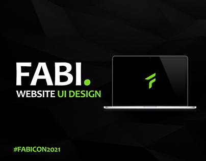 Fabi Website UI Design - #FABICON2021