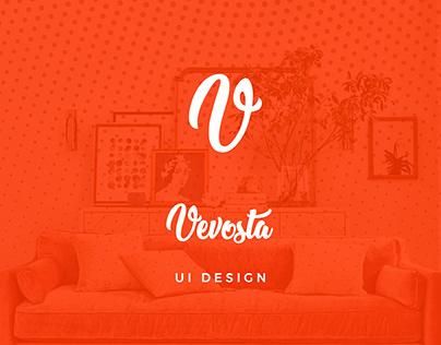 Vevosto | UI - Homepage Design