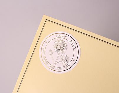 clover honey custom foil stamp stickers nz