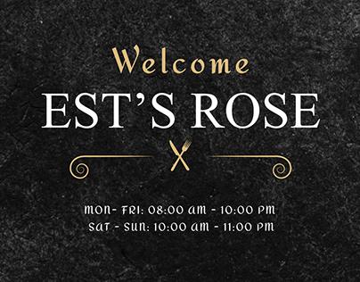 """""""EST'S ROSE"""" Restaraunt"""