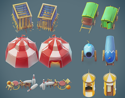 3D & 2D | Cartoon isometric concept