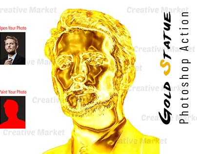Gold Statue Photoshop Action