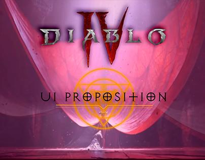 UI proposition Diablo 4