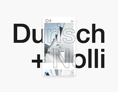 Durisch + Nolli | UI/UX Design