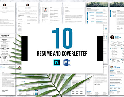 10 Resume & Cover letter Bundle