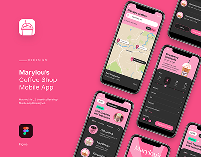 Marylou's Coffee Shop Mobile App Redesigned