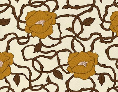 Wavy Nouveau Textile