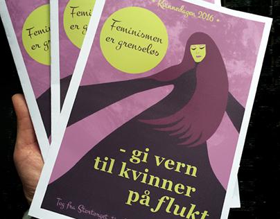 Fane / Plakat / Flyer // Amnesty Int. region Nord