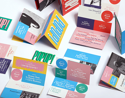 Graphic design identity for Pop Up! | Playground Paris