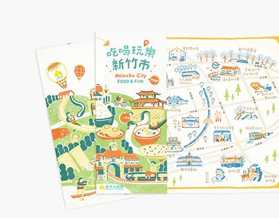 Map design for Hsinchu City