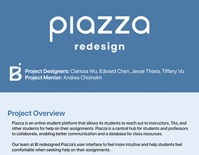 Piazza Redesign Spring 2020