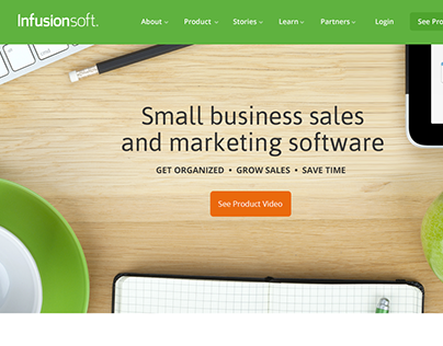 Infusionsoft Website Refresh (2013)