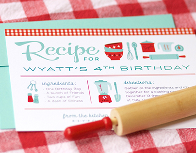 Retro Recipe Cooking Party