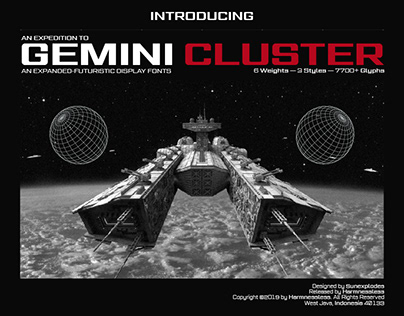 Gemini Cluster - Expanded Sci-fi Font Family