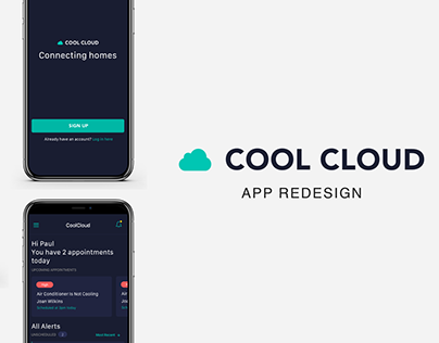 APP DESIGN - Cool Cloud Redesign - HVAC Contractor App