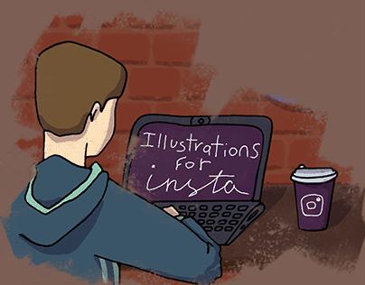 Illustrations for instagram posts II