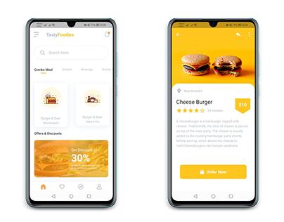 Food Ordering Mobile App UI