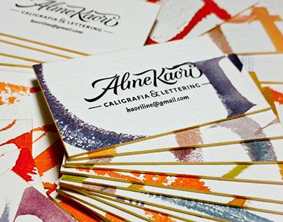 Letterpress & Calligraphy Business Cards - Aline Kaori