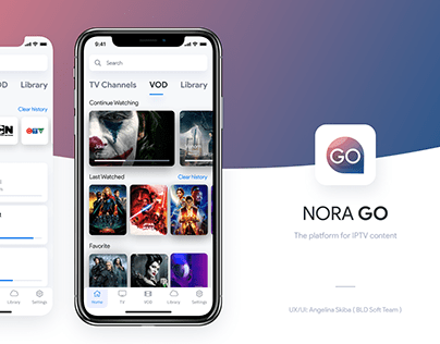 NoraGO. Mobile Application of IPTV content