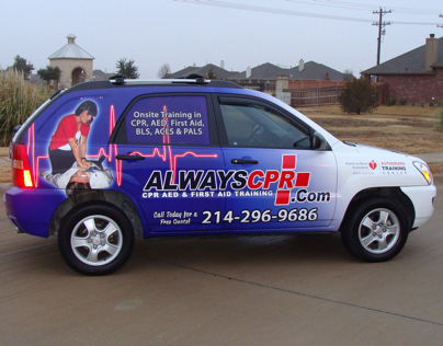 CPR Training Vehicle Wrap