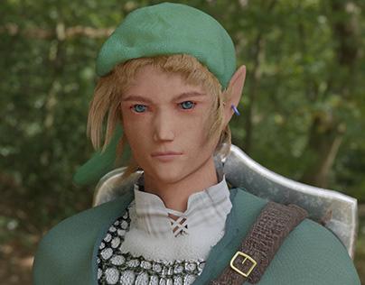 LINK (The Legend of Zelda) - Modelagem e Texturização