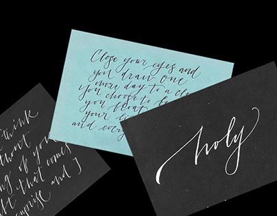 Calligraphy sketchbook ✒