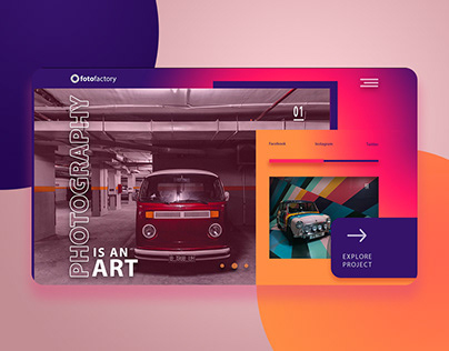 Photography Website UI/UX Design