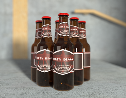Beer bottle renders