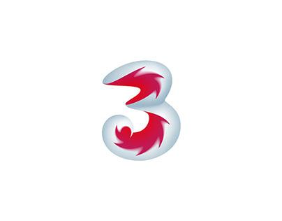 3 / Three logo
