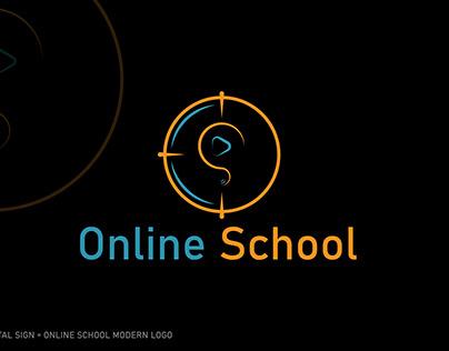 ONLINE SCHOOL MODERN LOGO