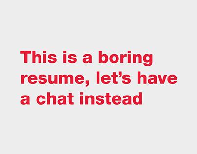 The Boring Resume (2020)