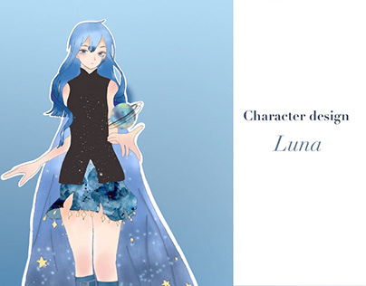 Character design     Luna from galaxy