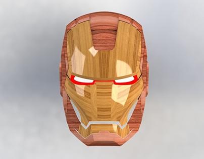 Iron man wooden mask