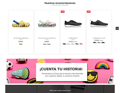Sitio Web oficial Crocs Ecuador