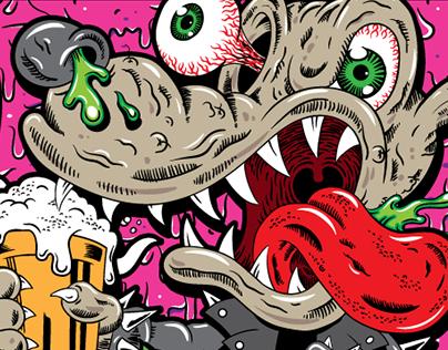 Canis Vulgaris – illustration + label design